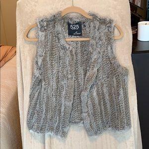 Brown/gray 525 America Luxe fur vest